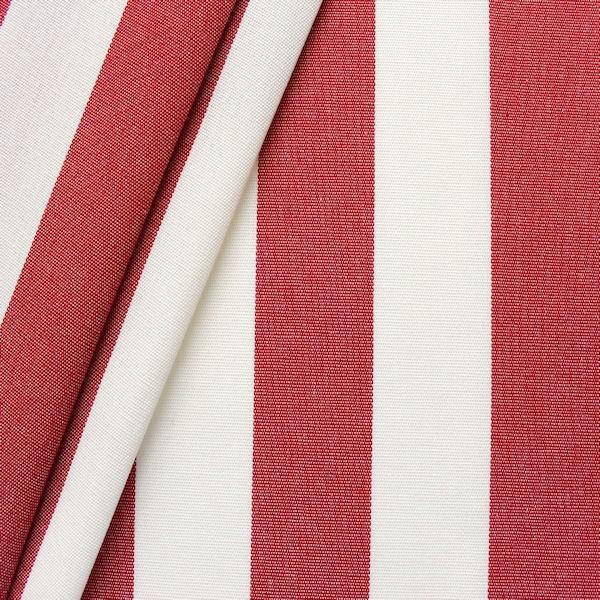 """Markisen Outdoorstoff """"Streifen"""" Breite 160cm Farbe Rot-Weiss"""