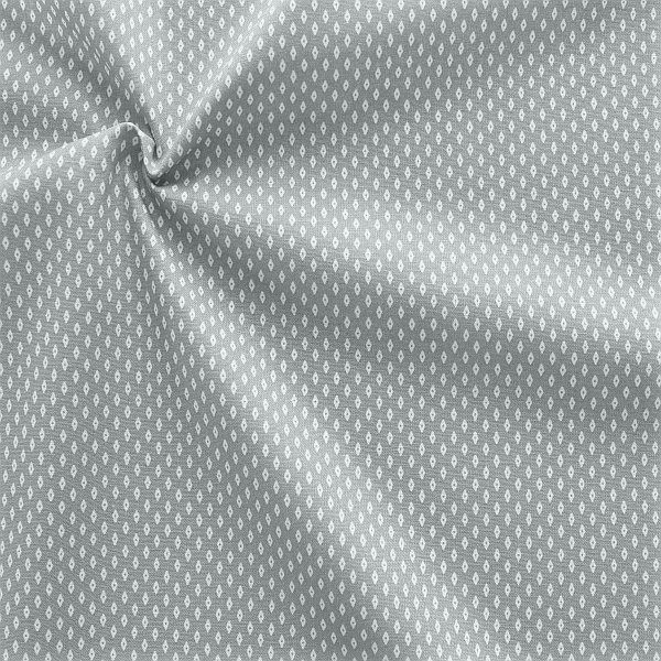 Baumwollstoff Popeline Rauten Mini Grau