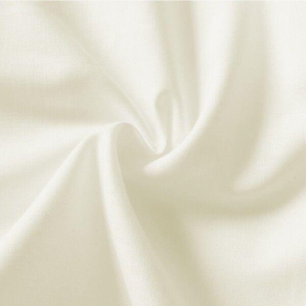 100% Baumwolle Fahnentuch Farbe Creme-Weiss