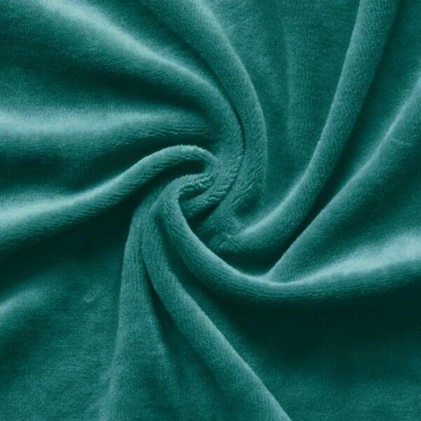 Nicki Baumwollstoff Farbe Petrol