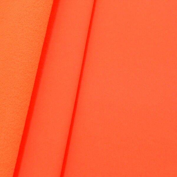 Softshell Fleece Stoff Farbe Neon-Orange
