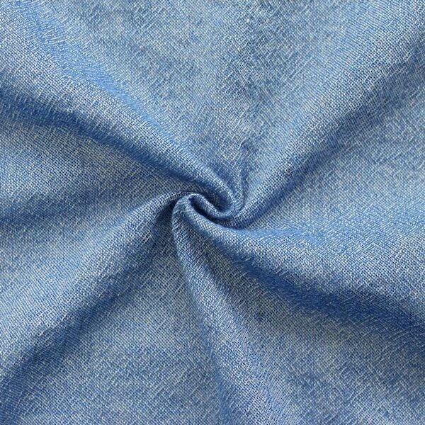 100% Viskose Crêpe Farbe Blau meliert