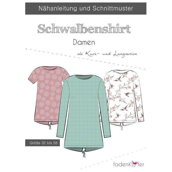 Fadenkäfer Schnitt Schwalbenshirt Damen Größe 32 - 58