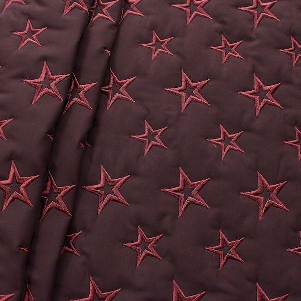 Steppstoff wattiert Stars Bordeaux
