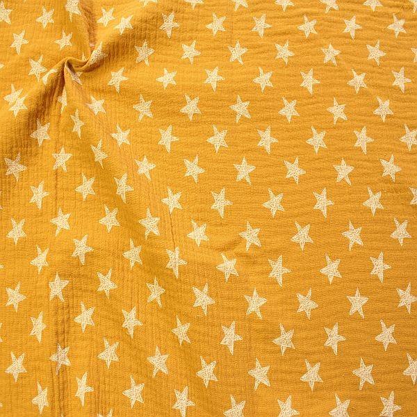 Baumwolle Musselin Sterne Curry-Gelb