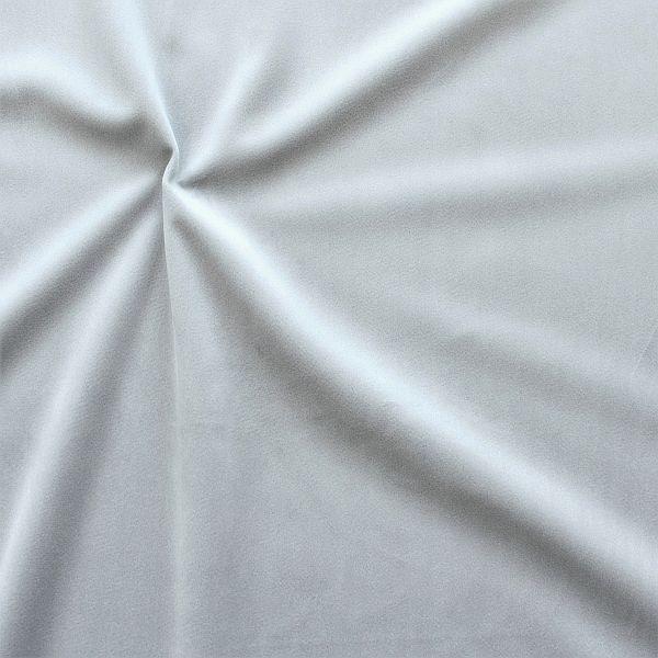 Microfaser Samt Stoff Velvet Touch Silber-Grau