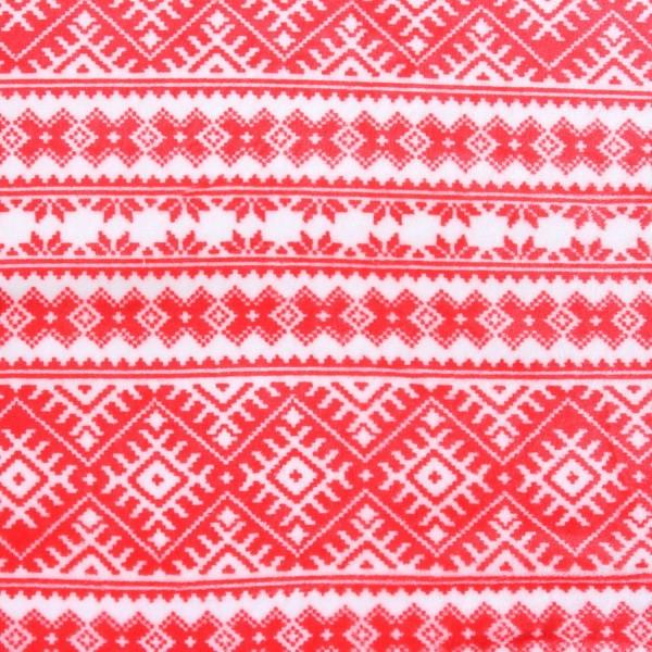 Wellness Fleece Winter Norweger Style Weiss