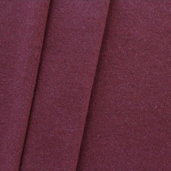 Mantel Wollstoff Klassik Bordeaux-Violett