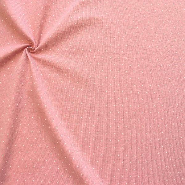Baumwoll Stretch Jersey Mini Dots Rosa