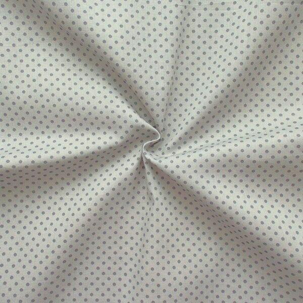 "100% Baumwolle Popeline ""Tupfen Klein"" Farbe Hell-Grau Dunkel-Grau"