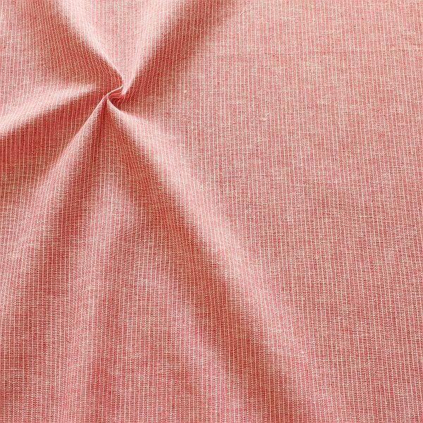 Leinen-Baumwolle Nadelstreifen Rot