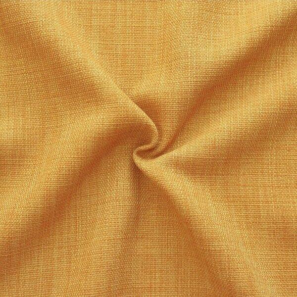 Modestoff Dekostoff universal Leinen Optik Gold-Gelb
