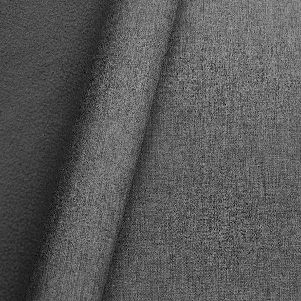 "Softshell Fleece Stoff ""Melange"" Farbe Dunkel-Grau"