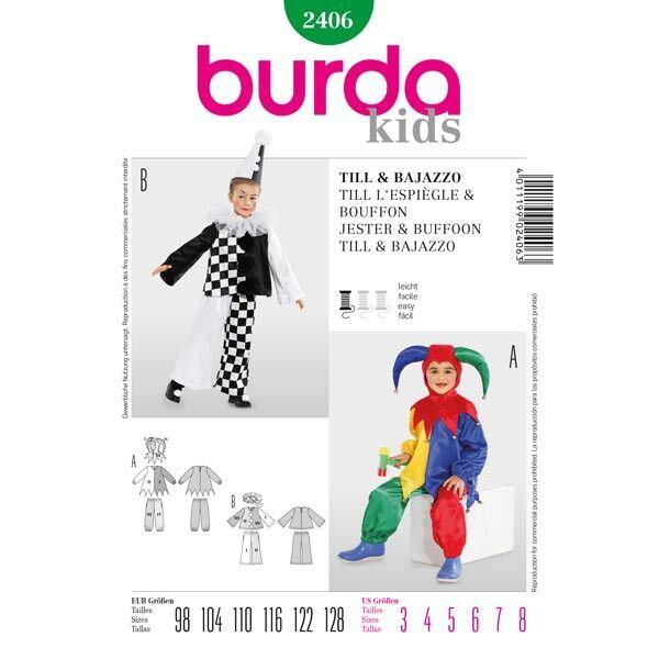Burda 2406 Schnittmuster für Karnevalskostüm Till und Bajazzo