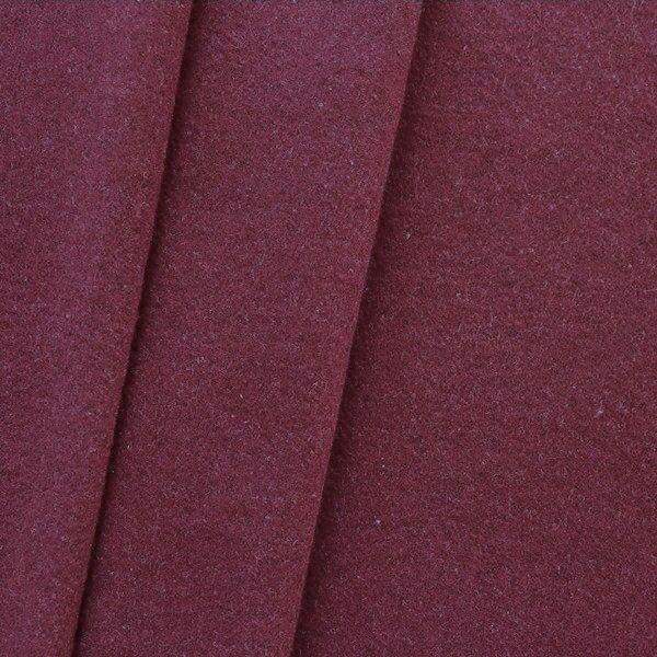 "Mantel Wollstoff ""Klassik"" Farbe Bordeaux-Violett"