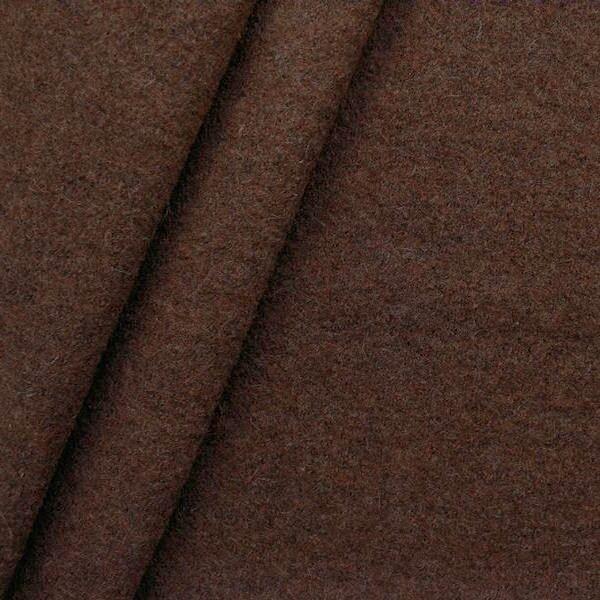 Wolle Walkloden Mahagoni-Braun meliert