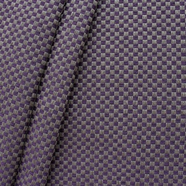 Polster- Möbelstoff Flechtoptik klein Lila Taupe