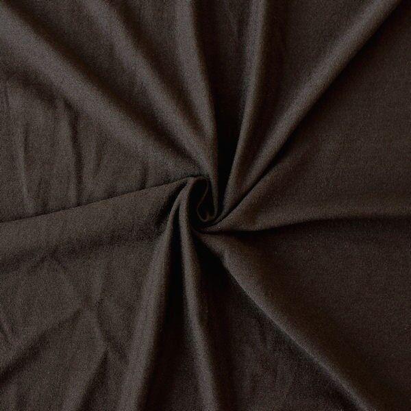 "Viskose Stretch Jersey ""Basic"" Farbe Braun"