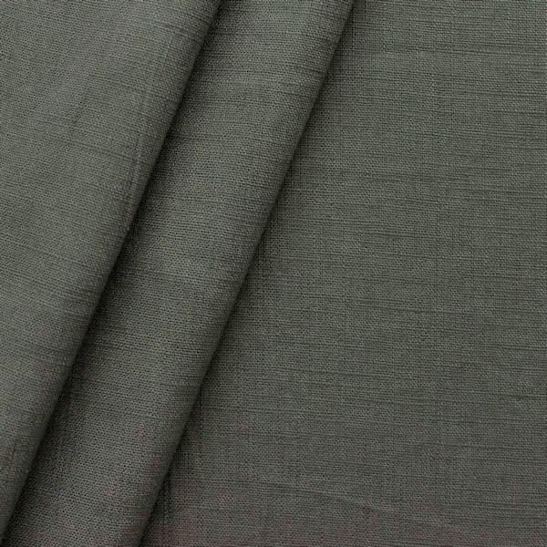 100% Leinen Stoff Dunkel-Grau