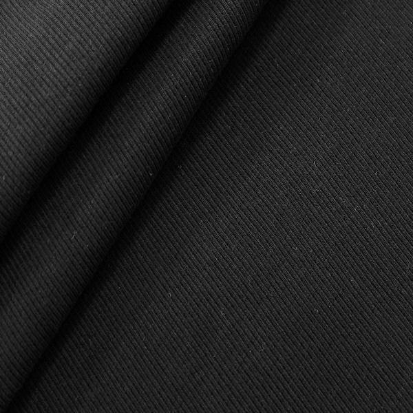 Baumwoll Bündchenstoff Schwarz