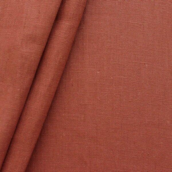 100% Leinen Stoff Artikel Girona Farbe Kupfer-Braun