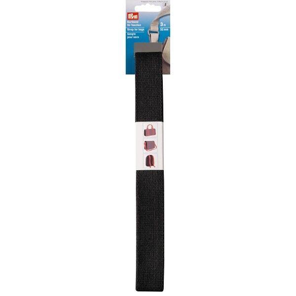 Prym 3m Gurtband für Taschen, 30mm, Schwarz