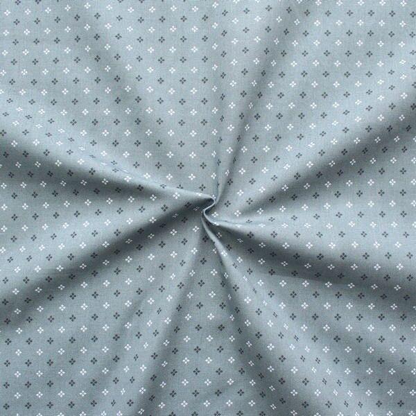 100% Baumwollstoff Sternblümchen Grau