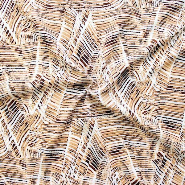 """100% Viskose Javanaise """"Fashion Print 10"""" Farbe Braun"""