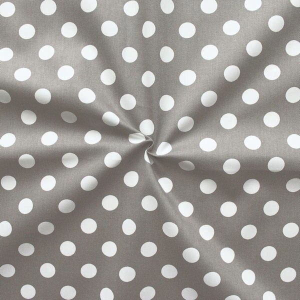 "100% Baumwolle Köper ""Fashion Dots"" Farbe Taupe"