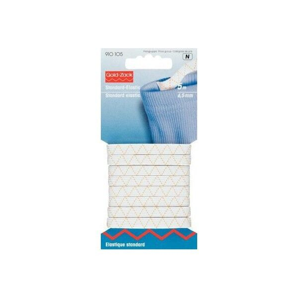 Prym 5m Standard-Elastic 7mm breit weiß