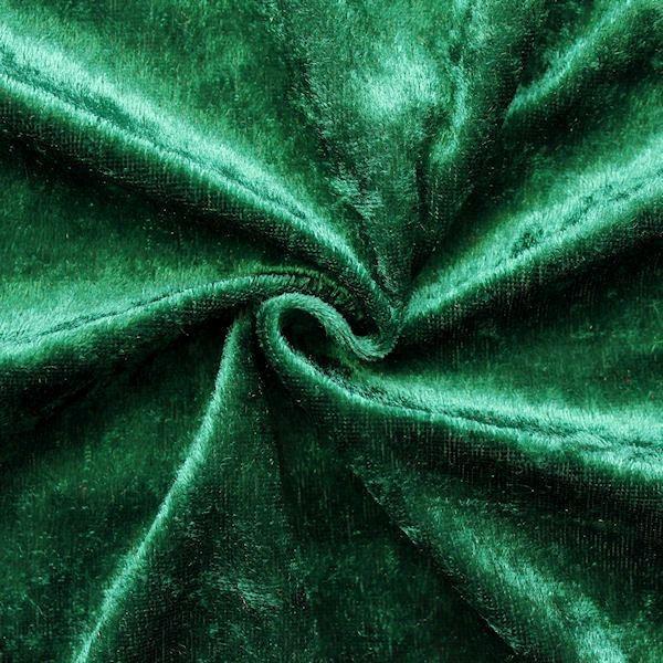 Pannesamt Farbe Tannen-Grün