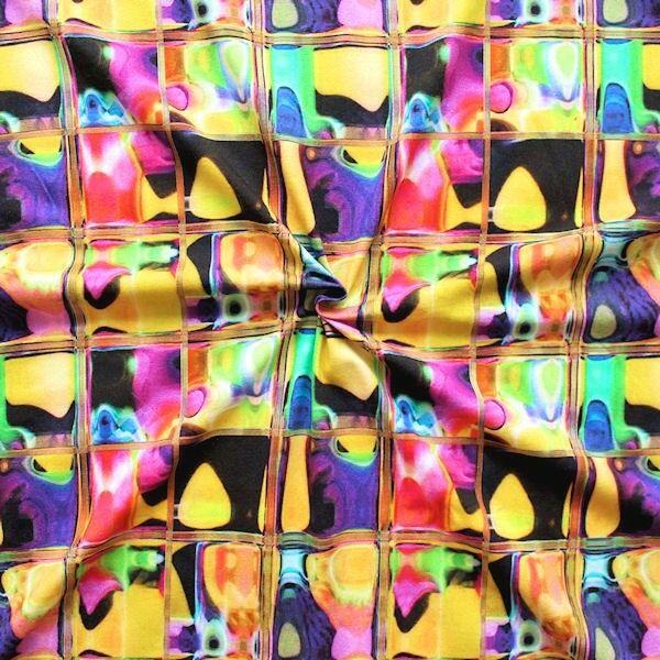 "Baumwoll Stretch Jersey Digital Druck ""Modern Art"" Multicolor"