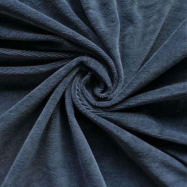 Feincord Jersey Dunkel-Blau