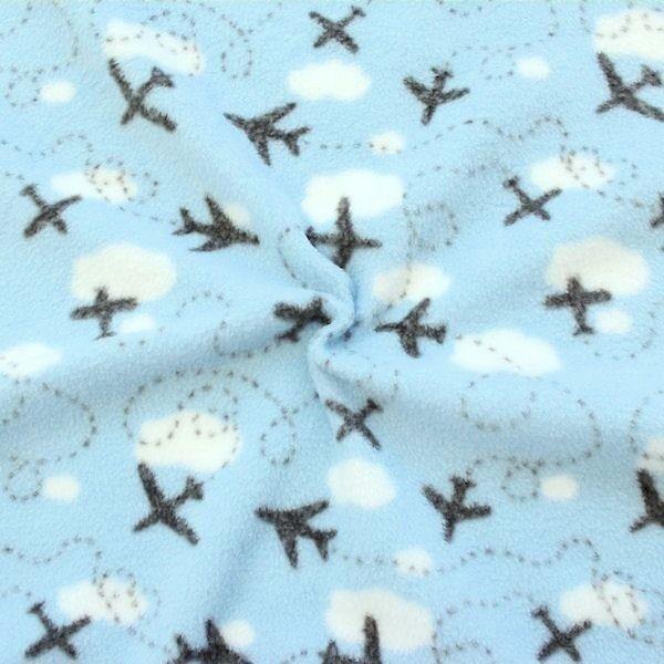 Polar Fleece Airplanes Hell-Blau