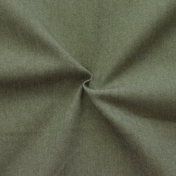 Stretch Denim Jeans Stoff Khaki-Grün