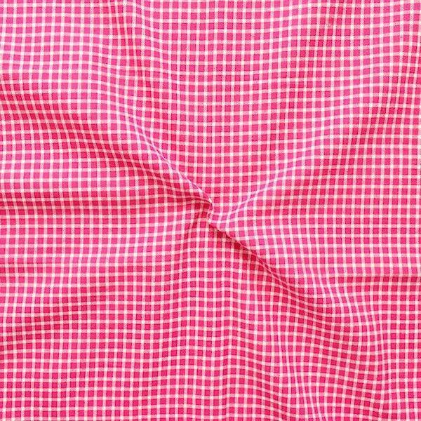 """Dekostoff """"Landhaus Karo klein"""" Farbe Pink"""