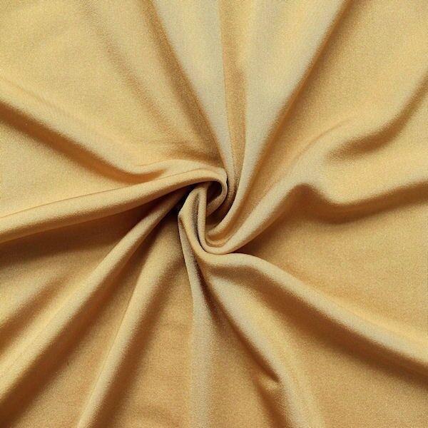 Bi-Stretch Jersey Badeanzug Stoff Beige-Gold