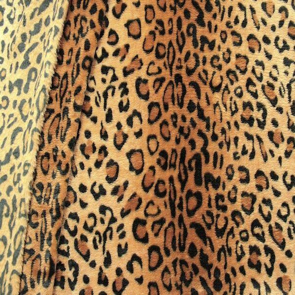 Wellness Fleece Leopard Braun