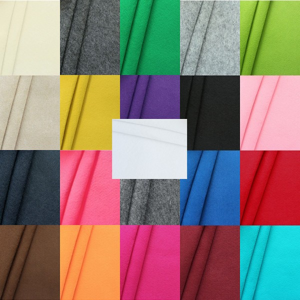Musterkarte DIN A4 - Bastel Filz Stärke 3,0 mm Breite 90 cm