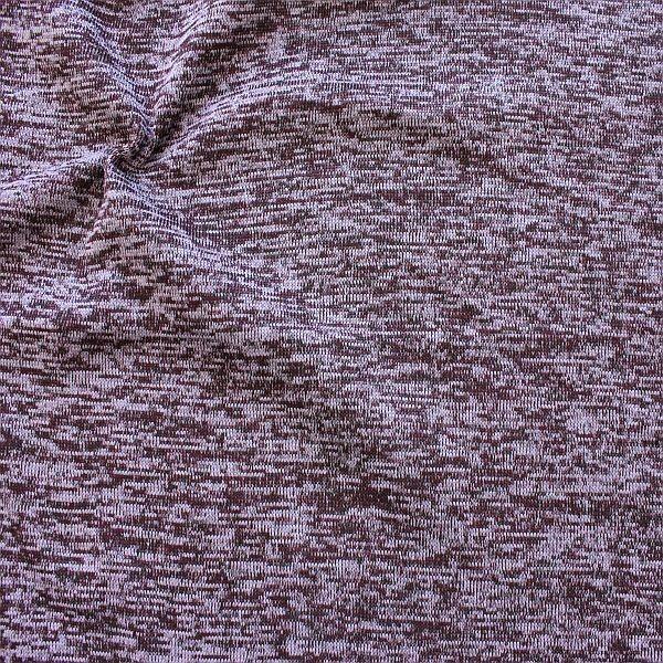 Strick Fleece Melange Lila-Violett