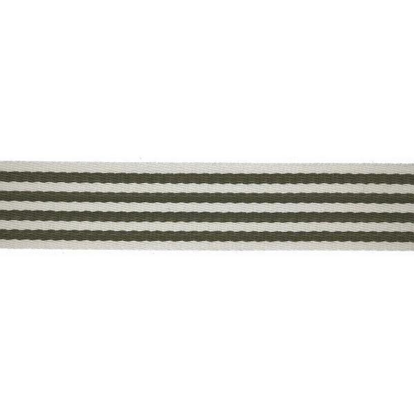 Taschenband Gurtband 40mm Khaki-Weiss