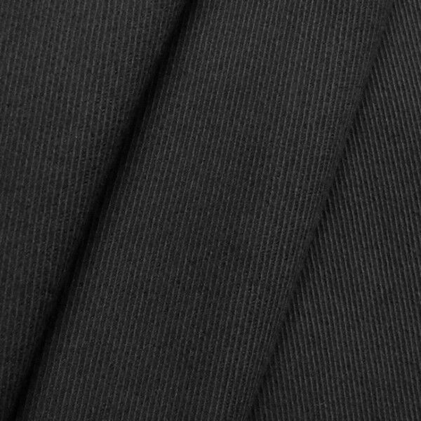 Stretch Baumwolle Köper Farbe Schwarz
