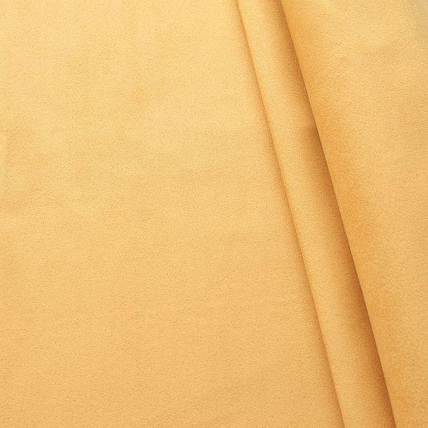 Microfaser Polsterstoff Möbelstoff Safran-Gelb