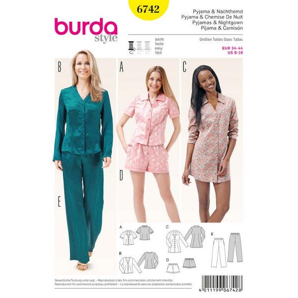 Pyjama, Nachthemd – Shorts – Bluse – Tunika, Gr. 34 - 44 ...