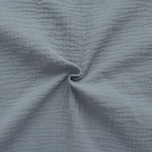 100% Baumwolle Musselin Double Gauze Mittel-Grau