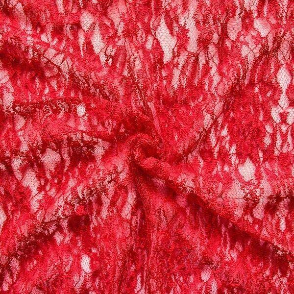 "Spitzenstoff ""Classic Flower"" Farbe Rot"