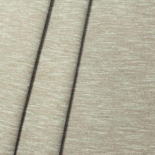 Stretch Scuba Stoff Farbe Beige meliert