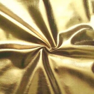Stretch Folienjersey Farbe Gold