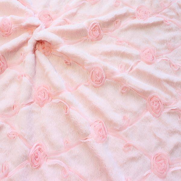 Plüsch Flausch Pelzimitat Rose Rosa