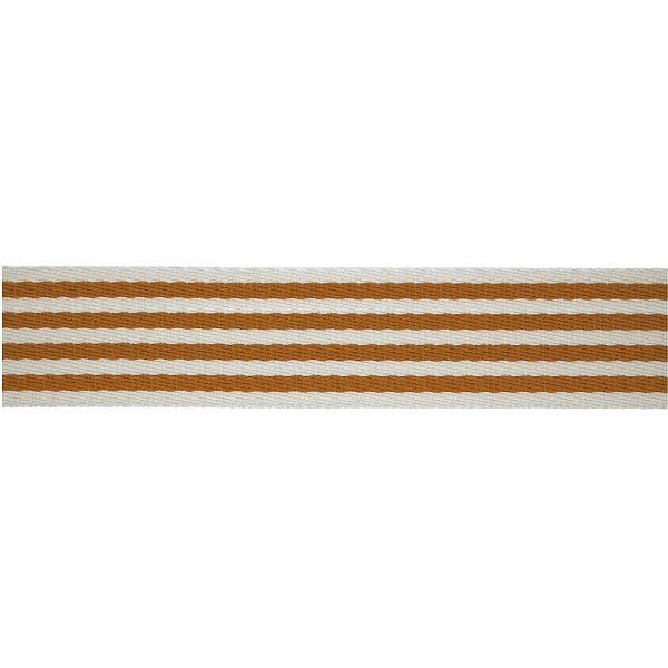 Taschenband Gurtband 40mm Ocker-Weiss